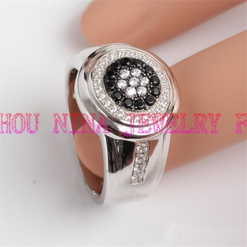 luxury man's ring silver ring wholesale from China factory
