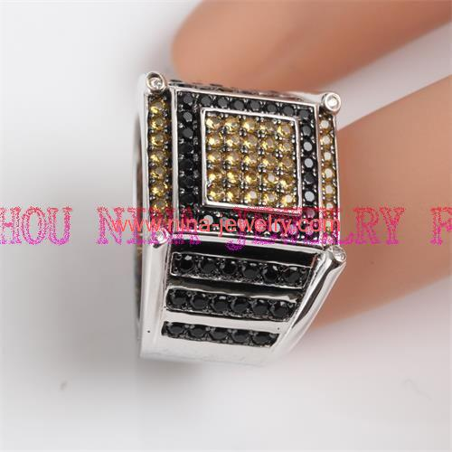 Colorful AAA CZ man ring silver ring for wholesale from China factory direct